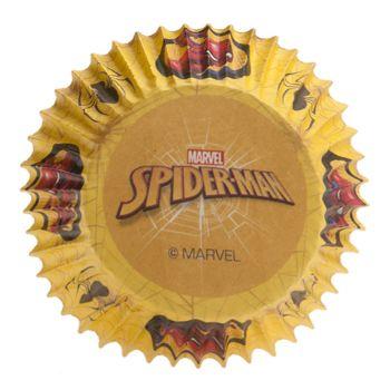 25 backförmchen Cupcakes Spiderman Ø5cm