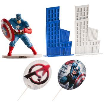 Avengers-Kuchen-Set Captain America