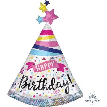 Riesige Helium Ballons Happy birthday sparkle