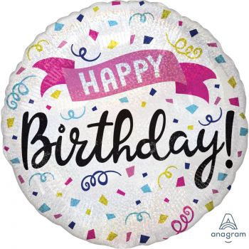 Helium-Ballons Happy birthday sparkle
