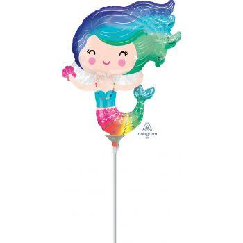 Mini Luftballon Aufgeblasene Meerjungfrau