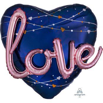 Multi luftballon helium riesige herz love