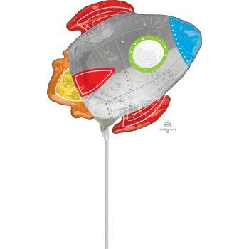 Mini-Luftballon Rakete aufgeblasen