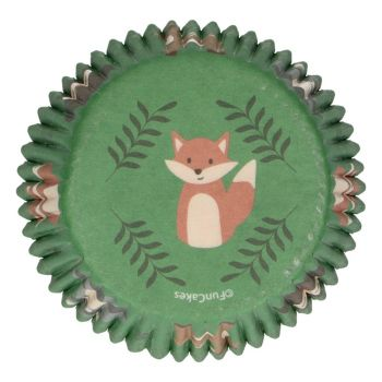 48 backförmchen Tiere aus dem Wald Funcakes