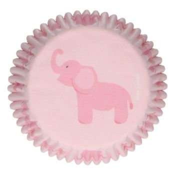 48 Baby-Mädchen-backförmchen Funcakes