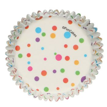 48 Bunte Konfetti backförmchen Funcakes