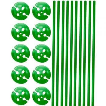 10 Grüne Kolbenstangen 40cm