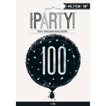 Heliumballon 100 glitz black