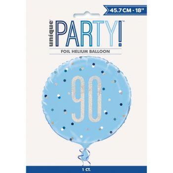 Helium-Ballon 90 glitz blau