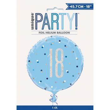 Helium-Ballon 18 glitz blau