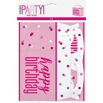6 Party box glitz rosa
