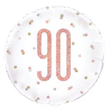 Helium-Ballon 90 glitz gold rosa