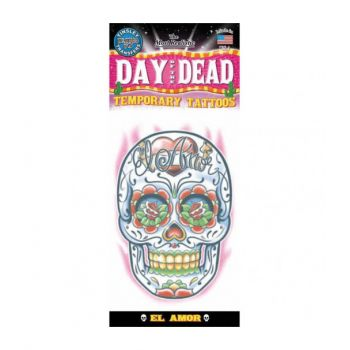 Tattoos day of dead amour