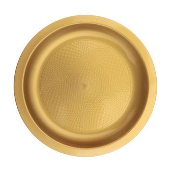 10 Teller Runde Nachtisch gold