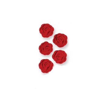 12 Mini-Rosa in zuckerrot