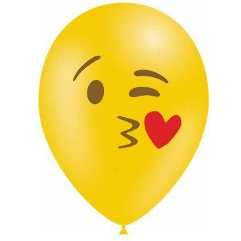 10 Emoticones luftballon küsst