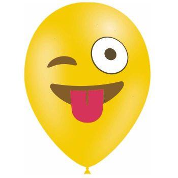 10 Ballons Emoticones augenzwinkernd