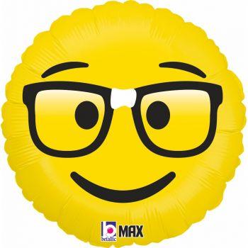 Ballon helium Emoticones geek