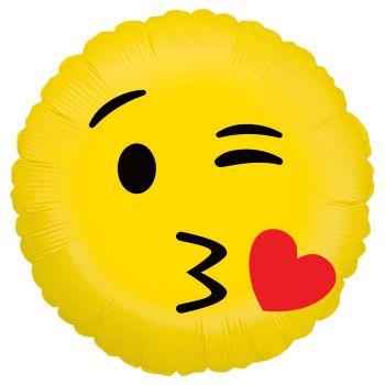 Ballon helium Emoticones küsst