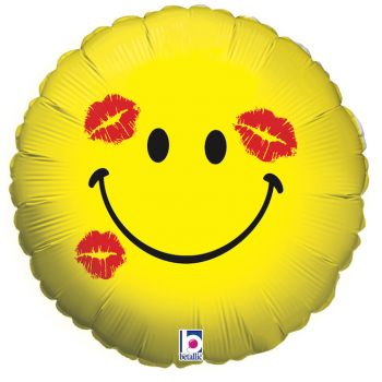 Ballon helium Emoticones kiss