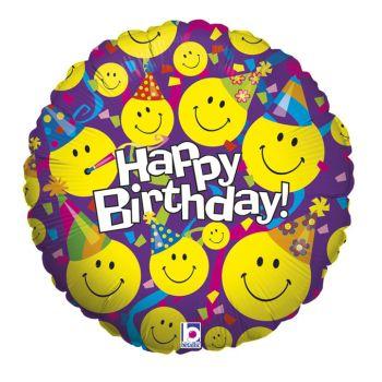 Ballon helium Emoticones party