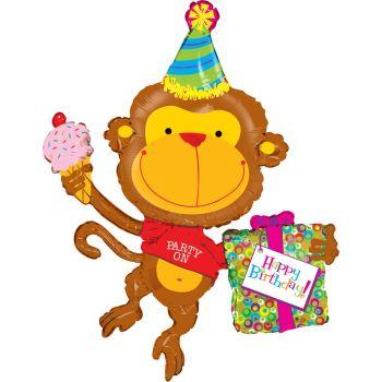 Riesiger Helium-Ballon monkey birthday