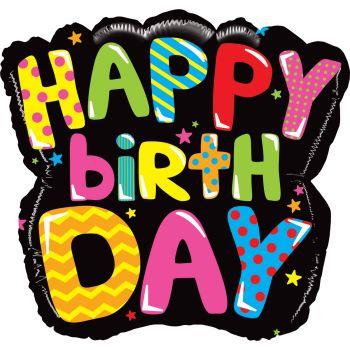 Helium Ballon Happy birthday multicolor