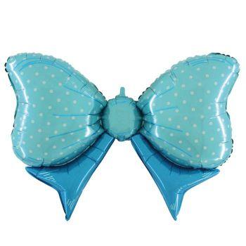 Ballon helium riesigen blauen Knoten