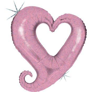 Riesiger Helium-Ballon holographische rosa Herzkette