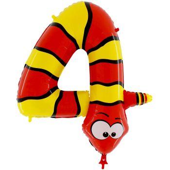 Ballon helium ziffer 4 schlange
