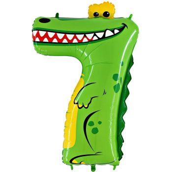 Helium-Kolben Ziffer 7 Krokodil