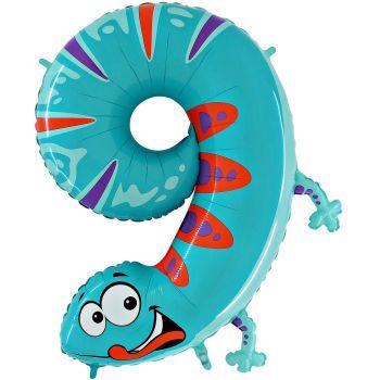 Ballon helium ziffer 9 salamander