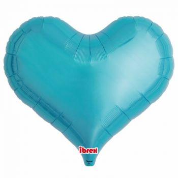 Ballon helium herz türkis