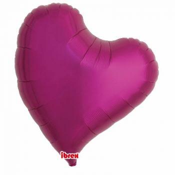 Ballon helium herz design fuchsia 63cm