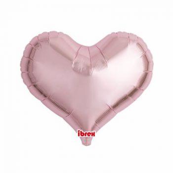 Ballon helium herz rosa pastell 35cm