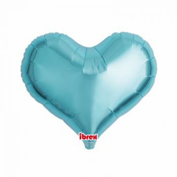 Ballon helium herz türkis 35cm