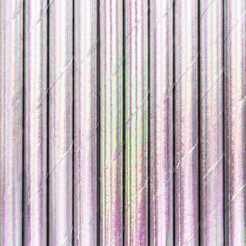 10 Stroh metallisiertes Papier irisiert rosa