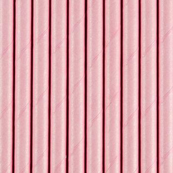 10 Stroh papier rosa