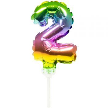 Cake topper Ballon Regenbogen Nr. 2