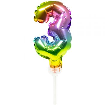 Cake topper Ballon Regenbogen Nr. 3