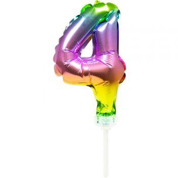Cake topper Ballon Regenbogen Nr. 4