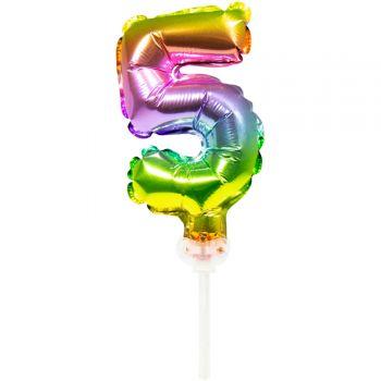 Cake topper Ballon Regenbogen Nr. 5