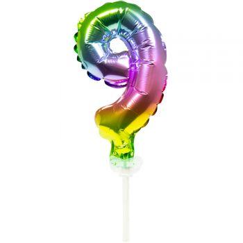Cake topper Ballon Regenbogen Nr. 9