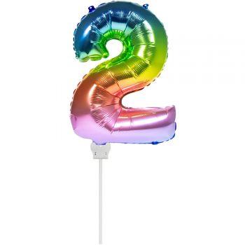 Mini-Luftballon 2 Bogen in aufgeblasenen Himmel