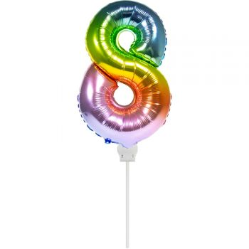 Mini-Luftballon 8 Bogen in aufgeblasenen Himmel