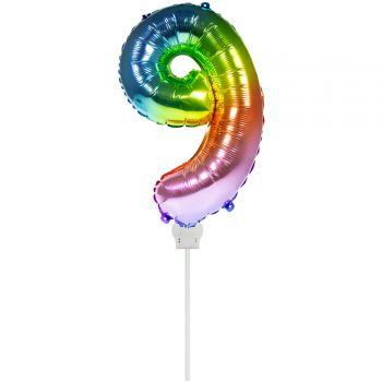 Mini-Luftballon 9 Bogen in aufgeblähten Himmel