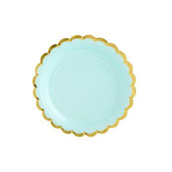 6 kleine Teller sweet pastell mint