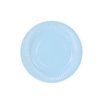 6 kleine, blaue Pastell-Teller