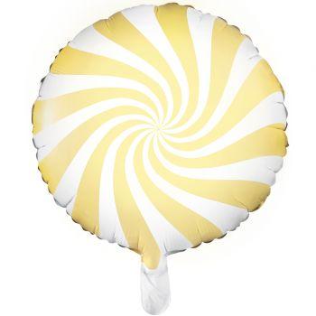 Helium-Luftballon Candy gelb