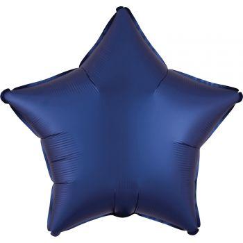 Helium Luftballon Satin Luxus Blau Stern